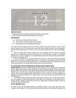 金融学基础_曾勇_Chapter12Choosing an Investment Portfolio