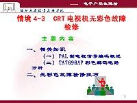 电子产品故障检修_李雄杰_情境4-3CRT电视机无彩色故障检修